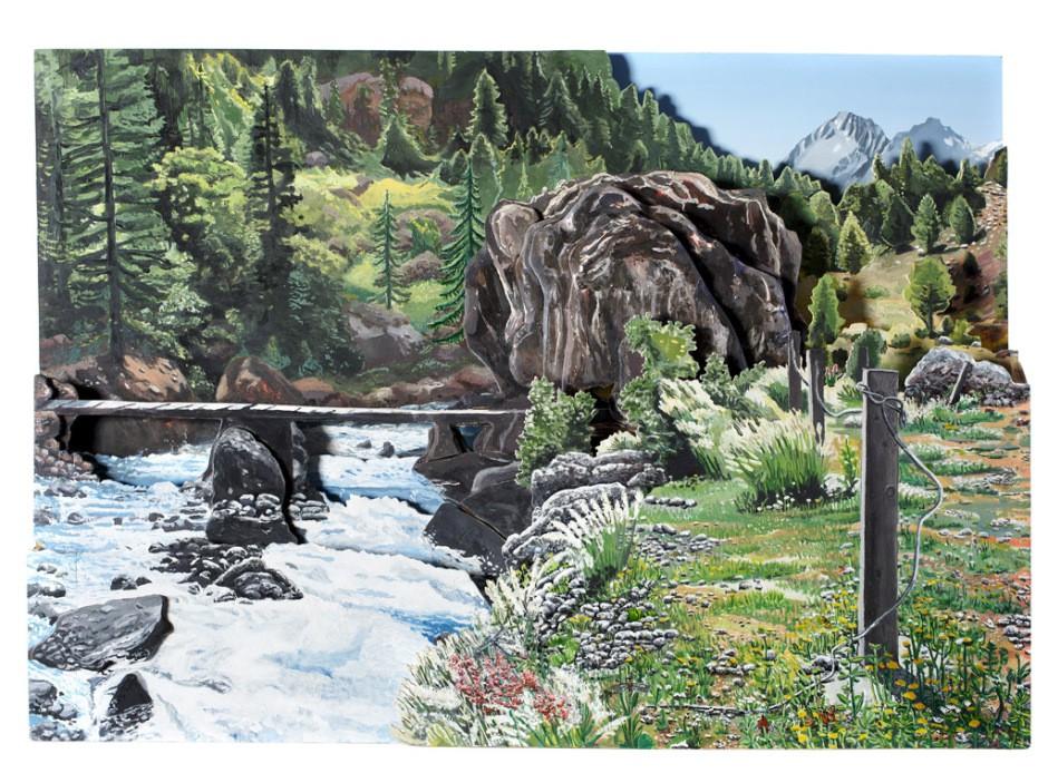 Rotsblok in de Alpen